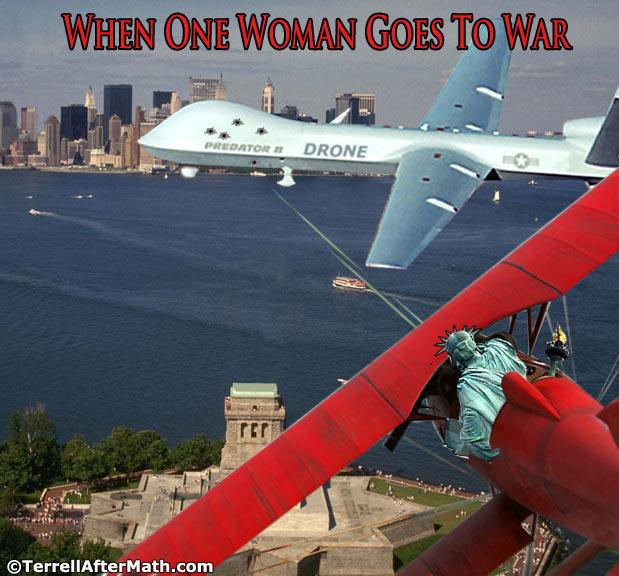 Liberty Statue Drone SC