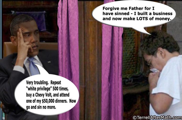 Obama Confessional SC Obama, The Petulant Child