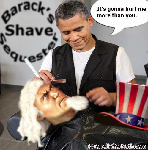 Obama Shaves Uncle Sam Sequester SC