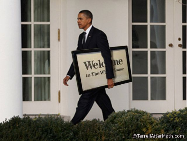 Obama Takes Down Welcome To WH Sign SC