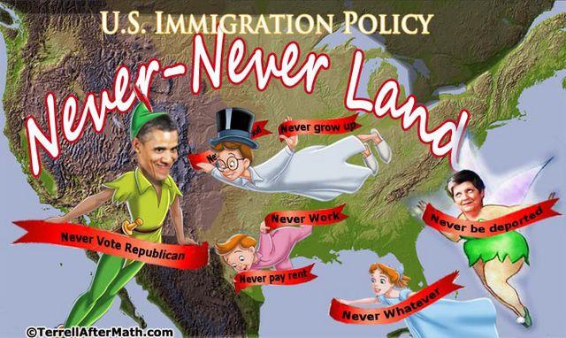 Obama Amnesty Never Never Land SC