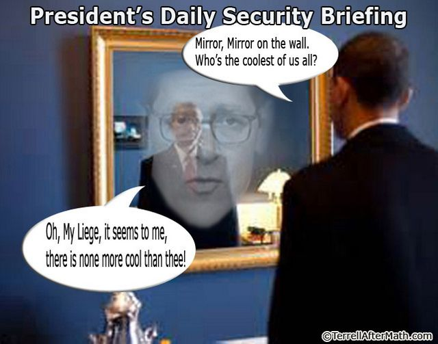 Obama Daily Security Briefing Mirror SC