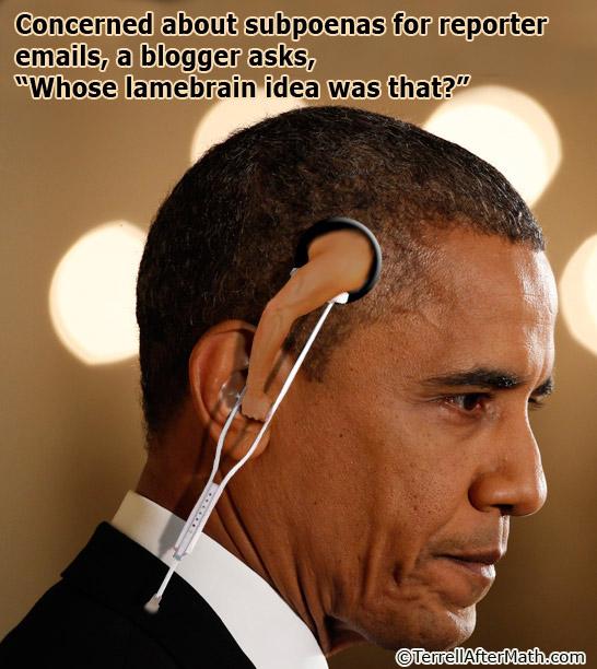 Obama Lamebrain Reporter Subpoena SC