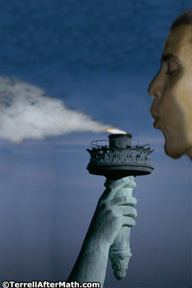 Obama Libs Blow Statue of Liberty Flame Out SC