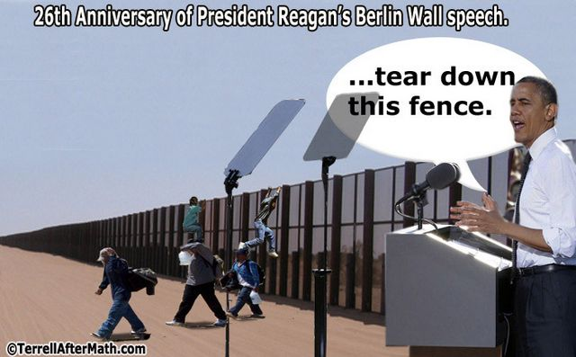 Obama Tear Down This Fence SC