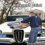 Obama Hillary Different Paint 2016 SC