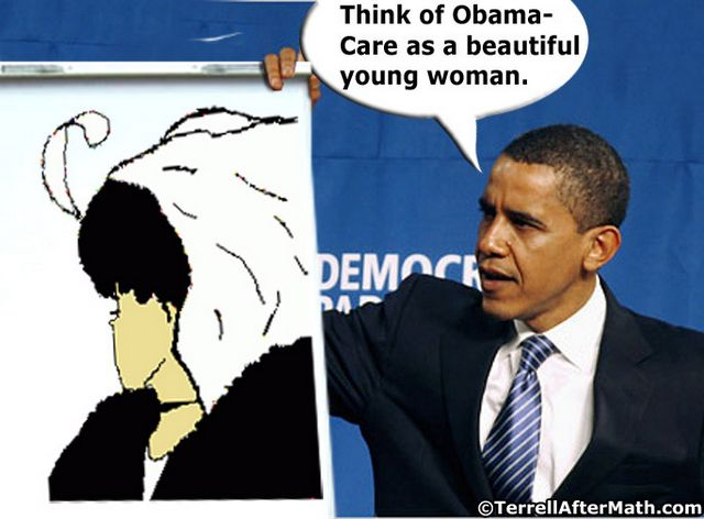 Obama Obamacare Young Old Woman Illusion SC