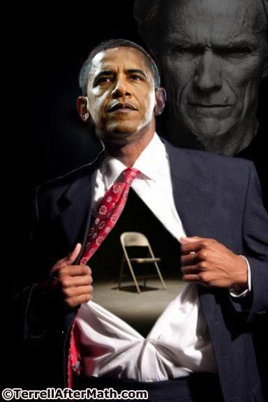 Obama Empty Chair Superman SC