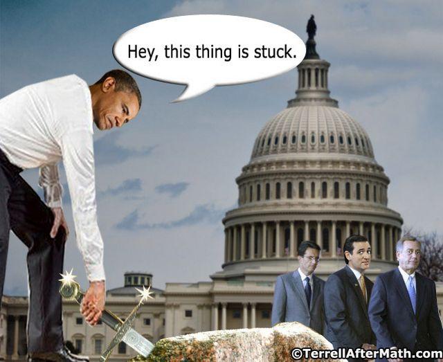 Obama Excalibur Stuck Cantor Cruz SC