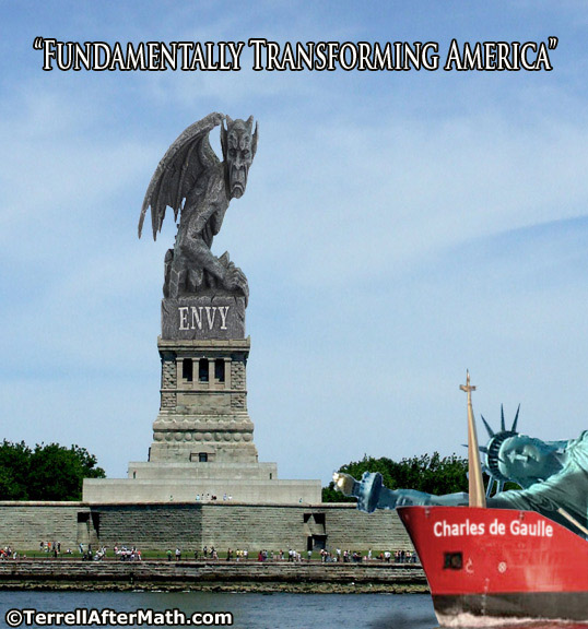 "Statue of Envy Fundamentally Transforming America Obama SC Obama's ""Propaganda Village"" on Display in D.C."