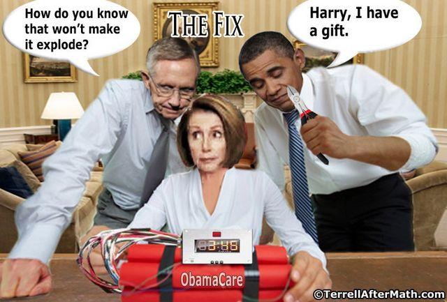 Harry Reid Nancy Pelosi Obama Obamacare Fix SC