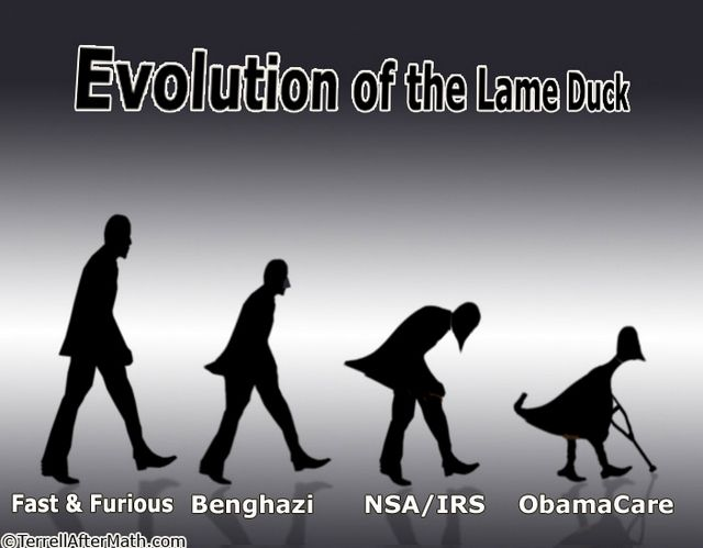 Obama Evolution Lame Duck Scandals SC