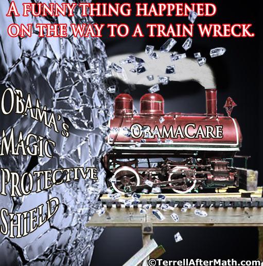 Obamacare Shield Train Wreck Obama SC
