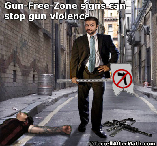 Gun Free Zone Sign SC