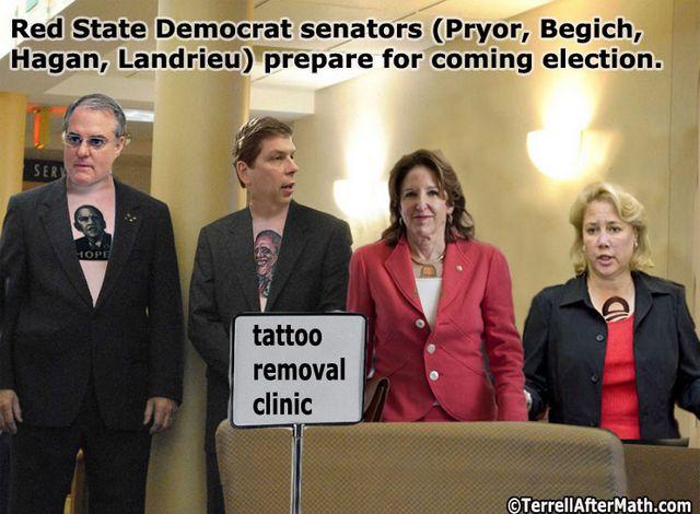 Obama Democrat Senators Tattoo SC