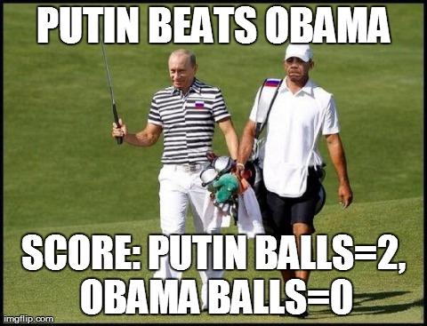 Putin and Obama Golf 2 SC