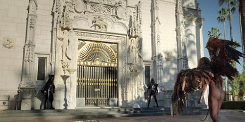 Lady Gaga Enters Hearst Castle