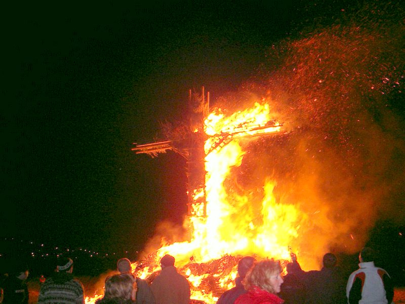 crossburning in junglinster, luxembourg