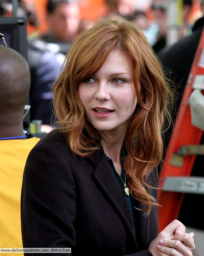 "Kirsten Dunst, ""MJ"", on Spiderman 3 Set"