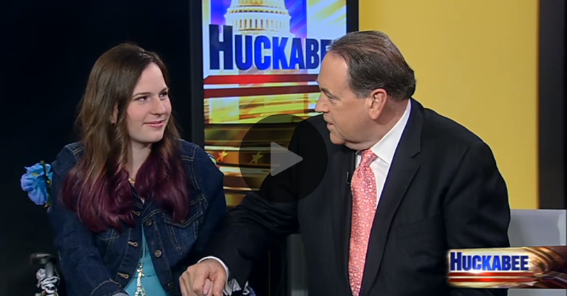 Justina on Huckabee Show