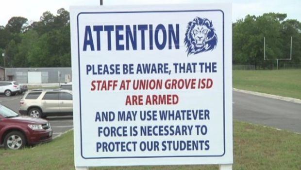 Texas School Sign