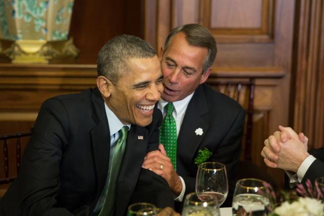 Boehner Obama Lucky