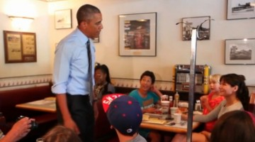 Obama at Charcoal Pit