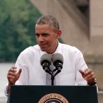 Obama at Key Bridge