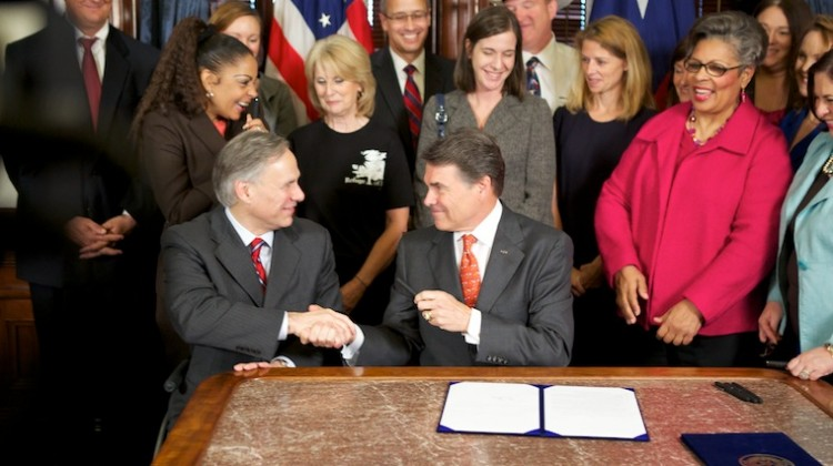 Rick perry abortion image