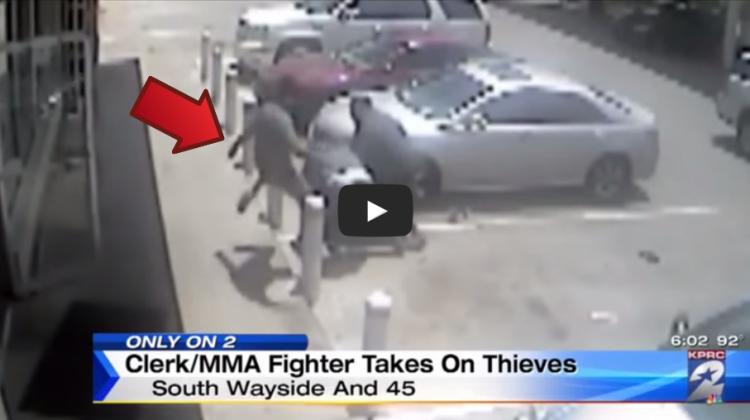 Store Clerk Stops Robbery