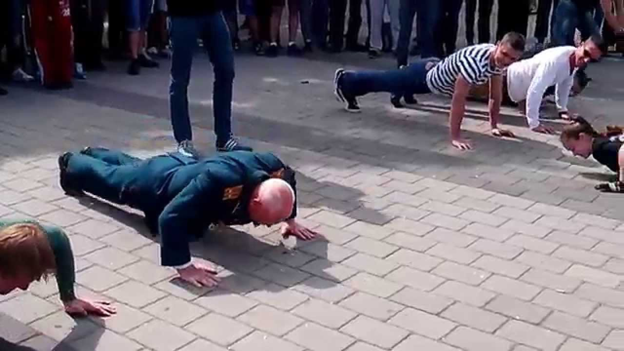 WATCH: This Seventy-Seven Year Old Schools Younger Men at Pushups