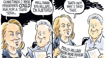 "Jeff Koterba cartoon for August 7, 2014""Clinton Hillary Obama campaign"""