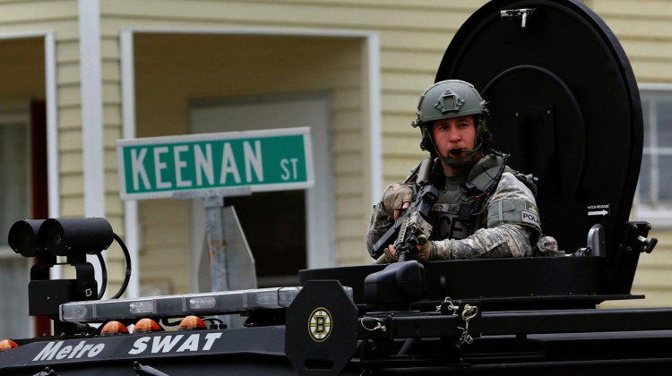 Boston militarized policetank