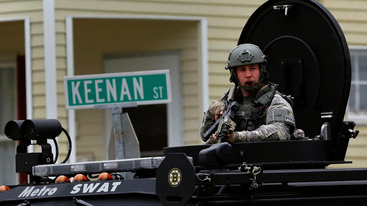 Boston militarized policetank