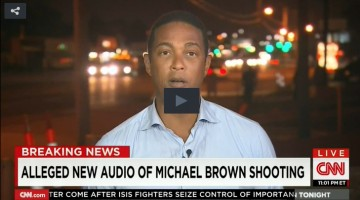 Ferguson Shooting Audio Evidence Play Button