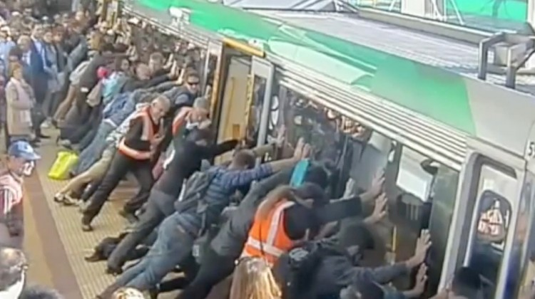 Man Saved From Train In Perth