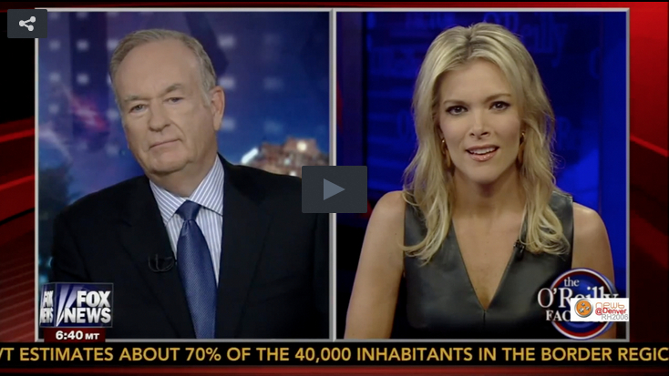 Megyn Kelly and Bill O'Reilly Play Button