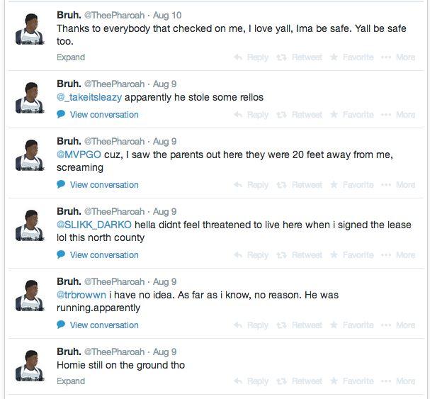 Michael Brown Eyewitness Twitter 3