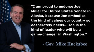 Mike Huckabee Endorses Joe Miller