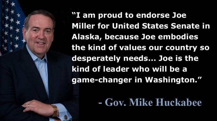 Mike Huckabee Endorses Joe Miller