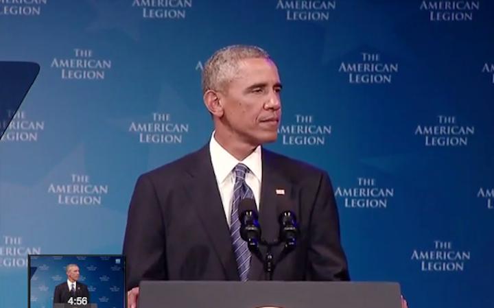 Obama Am Leg