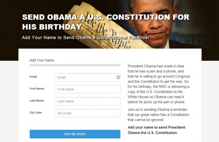 Obama Bday U.S. Constitution