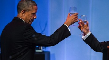 Obama toasts