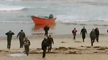 Panga Boat Storms CA Beach