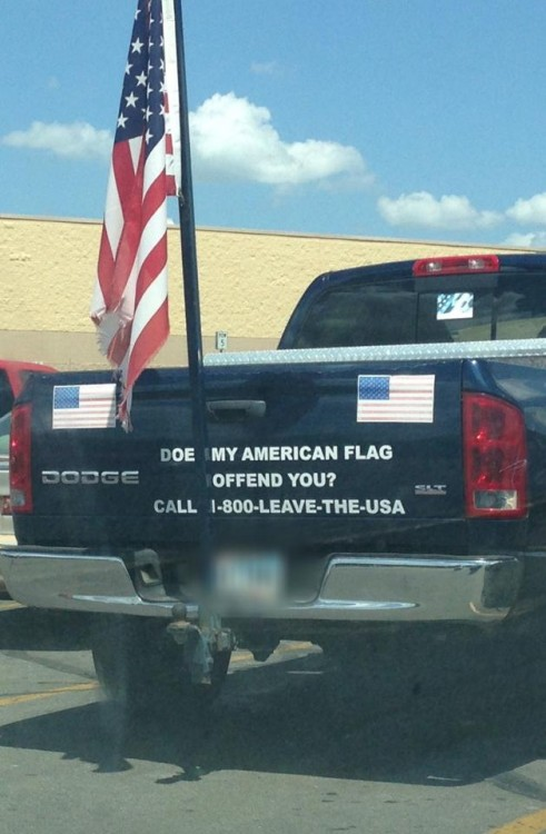 Truck with U.S. Flag