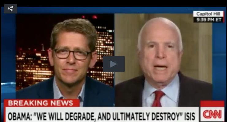 Jay Carney & John McCain