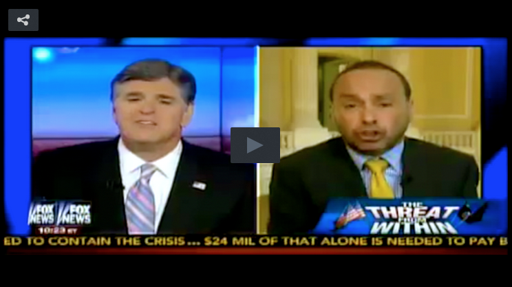 Sean Hannity and Luis Gutierrez