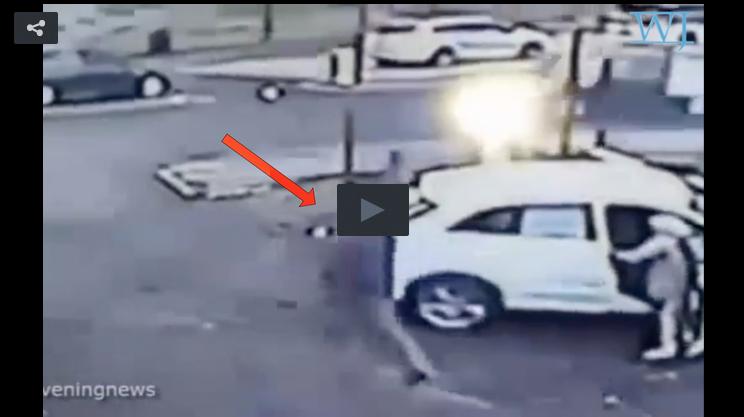 Car Jacker Runs from Woman