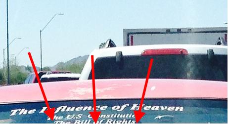 windshield arrow down