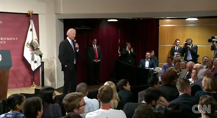 Biden at Harvard